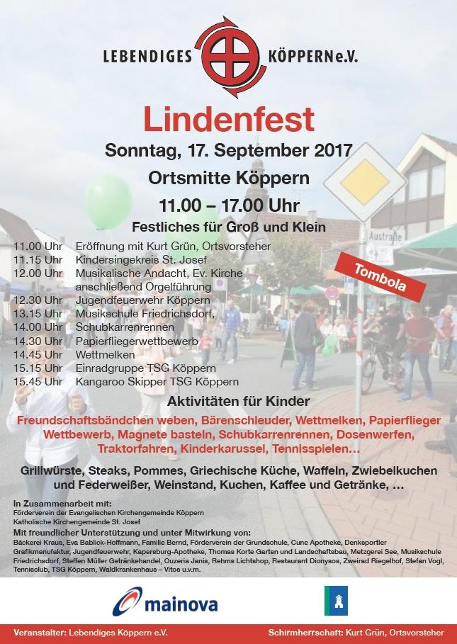 Das Programm für das Lindenfest 2017 steht
