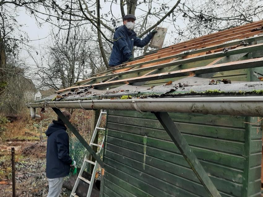 Köpperner Dachplatten in den Backesgärten